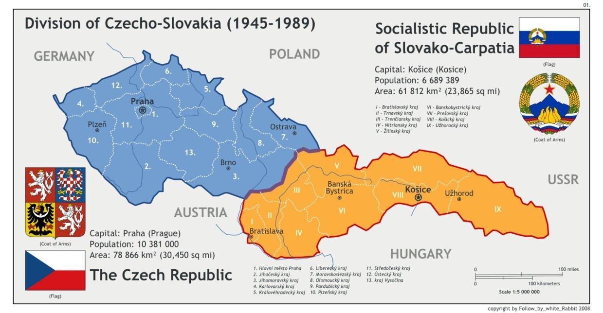 europa kart 1945 Tsjekkoslovakia kart 1945   Kart av Tsjekkoslovakia 1945 (Øst  europa kart 1945