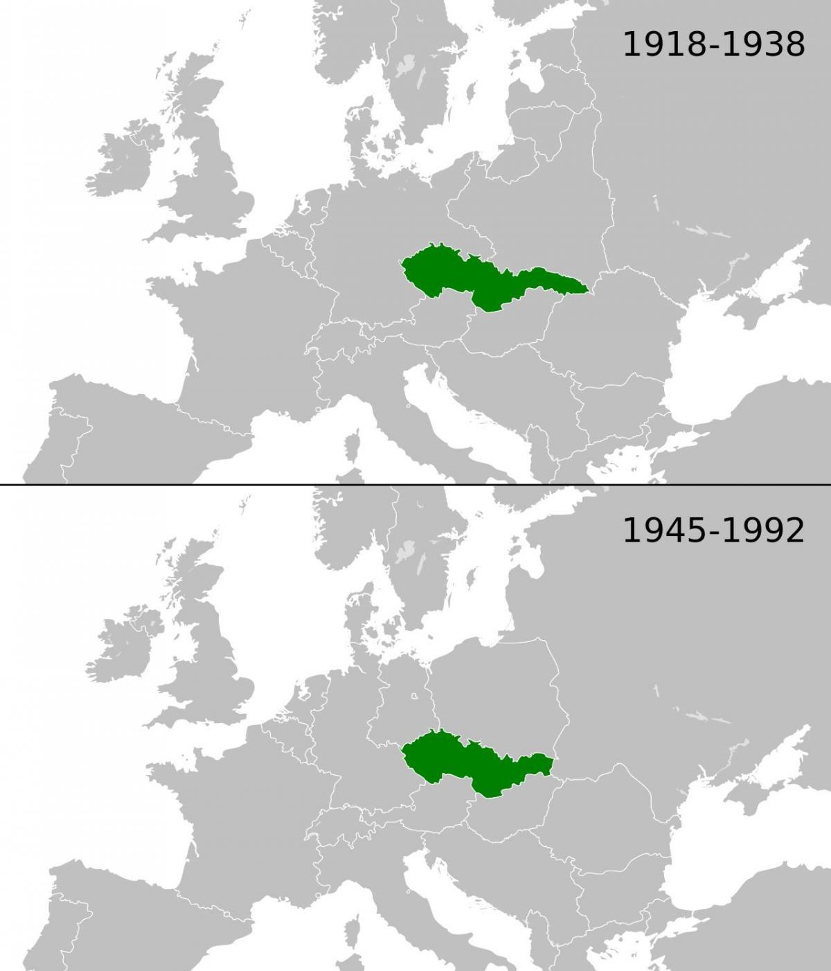 tsjekkoslovakia kart Tsjekkoslovakia Europa kart   Kart over Europa, Tsjekkoslovakia  tsjekkoslovakia kart